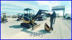 2015 John Deere 27 D 27D Trackhoe Mini Ex Small Excavator With Push Blade Used