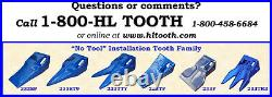 233TR3 Bucket Teeth by H&L Fits 230 Series Adapters Hammerless Conversion 233
