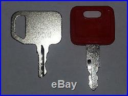 2 John Deere Heavy Equipment Keys-Common & Excavator-Fits Many Models
