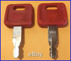 (2) John Deere, Hitachi Excavator Keys & fits Case Dozer, New Holland H800