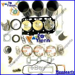 3TN78 3TN78L Overhaul Rebuild Kit For Yanmar engine John Deere JD25 excavator