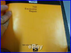 #4 John Deere 70 Excavator Operation Test & Repair Service Manuals TM1408 TM1376
