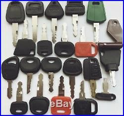 51pc Heavy Equipment Key Set Construction Ignition Keys CAT Case Komatsu Volvo
