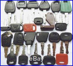 55pc Heavy Equipment Key Set Construction Ignition Keys CAT JCB Volvo JD komatsu