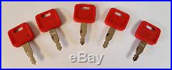(5)Keys Fit John Deere, Hitachi Excavator Case Dozer Fiat New Holland H800 M1#14