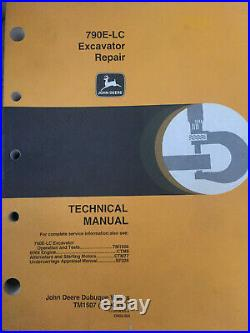 790E-LC Excavator Repair Technical Manual John Deere TM1507