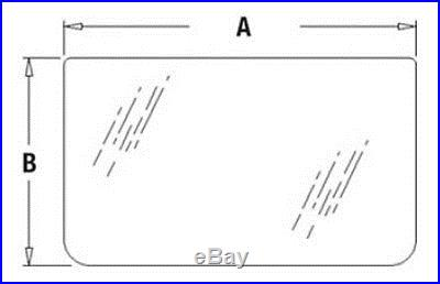 AT154431 John Deere Excavator E Series Lower Windshield Glass 190E 490E 690E ++