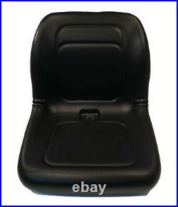 Black High Back Bucket Seat for John Deere 70, 125, 240, 7775, 8875 Skid Steers