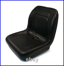 Black High Back Seat for John Deere 4300, 4310, 4400 Compact Utility Tractors