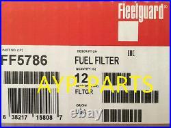 (CASE OF 12) FF5786 FLEETGUARD FUEL FILTER PF7983 Hitachi, John Deere Excavators