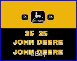 Decal Kit John Deere 25 Mini Excavator Jd Sticker Set