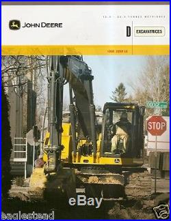 Equipment Brochure John Deere 135D 225D LC Excavator c2010 French (E1874)