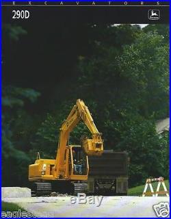 Equipment Brochure John Deere 290D Hydraulic Excavator c1991 (E2362)