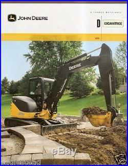 Equipment Brochure John Deere 60D Excavator c2008 French (E1872)
