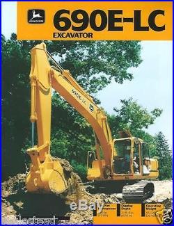 Equipment Brochure John Deere 690E-LC Excavator c1991 (E2374)