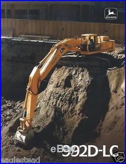 Equipment Brochure John Deere 992D-LC Excavator c1990 (E2505)