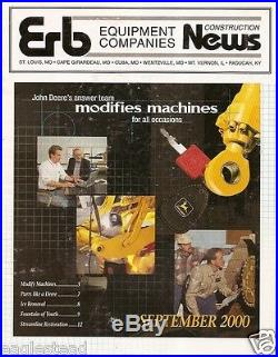 Equipment Brochure John Deere Erb 750 550LC Excavator Loader 2000 (EB675)