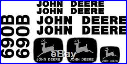 Fits John Deere 690B Excavator Decal Set JD Decals