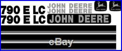 Fits John Deere 790E LC New Style NS Excavator Decal Set with Stripe JD Decals