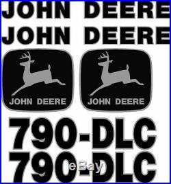 Fits John Deere 790-DLC Excavator Decal Set JD Decals