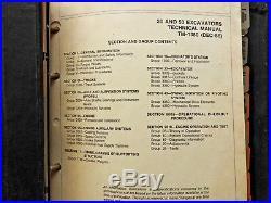 Genuine John Deere Model 30 & 50 Excavator Tractor Technical Service Manual Nice