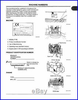 Hitachi Zx 110 130 160 180 210 225 250 280 350 370 Excavator Operators Manual