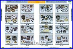 Hpv091 Rotor, Piston, Shaft Center, Valve Plate, Seal Pump Kit For John Deere 490e