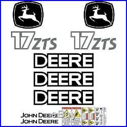 JOHN DEERE 17 ZTS Mini Excavator DECALS Stickers repro SET