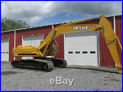 JOHN DEERE 270 LC EXCAVATOR CAB A/C REAL CLEAN STRAIGHT MACHINE GOOD U/C LOOK