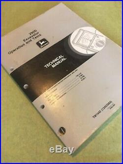 JOHN DEERE 290D EXCAVATOR OPERATION & TESTS TECHNICAL MANUAL Book Repair Service