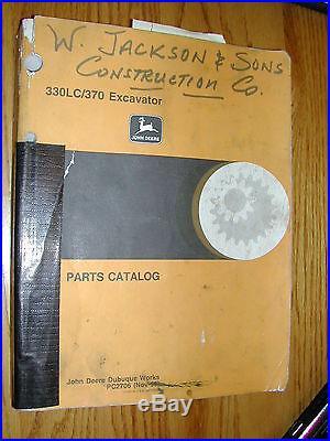 JOHN DEERE 330LC 370 PARTS MANUAL BOOK CATALOG HYDRAULIC EXCAVATOR JD PC2706