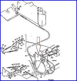 John Deere 4245625, At127746, Cable, Engine 495d, 595d Wheeled Excavator Nos Oem
