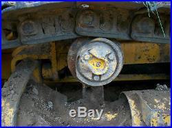 JOHN DEERE 455E DIESEL CRAWLER TRACK LOADER WITH BACK HOE EXCAVATOR 450 EROPS