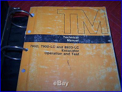 JOHN DEERE 790D 790D-LC 892D-LC EXCAVATOR OPERATION, TEST&REPAIR TECHNICAL MANUAL