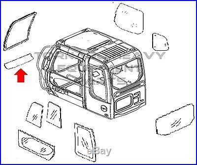 JOHN DEERE / HITACHI 4602563R EXCAVATOR FRONT LOWER WINDOW CAB GLASS