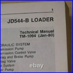 JOHN DEERE JD544B WHEEL LOADER Repair Shop Service Technical Manual book guide