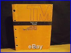 JOHN DEERE JD TM-1407, 70D Excavator Operation and Test Manual, 1987