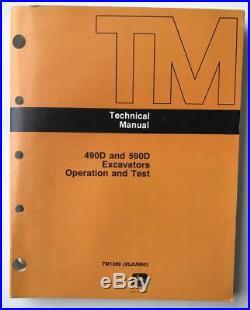 JOHN DEERE Technical Manual TM1389 490D 590D Excavators Operation & Test