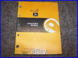 John Deere 110 Excavator Factory Operator Owner User Guide Manual OMT185531