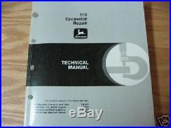 John Deere 110 Excavator Repair Technical Manual