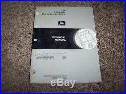 John Deere 120 Excavator Operation & Test Shop Repair Technical Manual TM1659