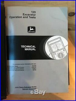 John Deere 120 Excavator Operation & Tests and Repair Manuals (TM1659, TM1660)
