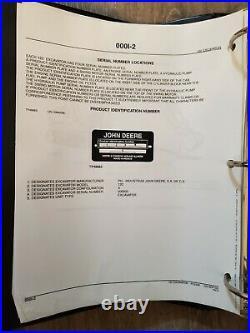 John Deere 120 Excavator Parts Book Manual Catalog PC2592