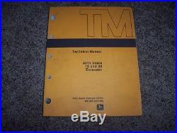 John Deere 15 25 Excavator Technical Repair Service Shop Manual TM1385