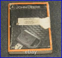 John Deere 160C LC Excavator Parts Catalog Manual PC9085