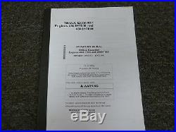 John Deere 160DLC Excavator 4045HT056 4045HT065 Engine Operator Manual OMT226911