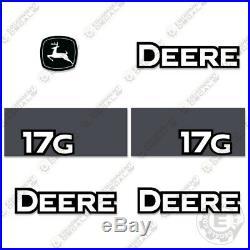 John Deere 17G Decal Kit Mini Excavator Equipment Decals 17 G