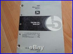 John Deere 190E excavator factory technical repair manual TM1540 OEM