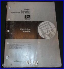 John Deere 200lc Excavator Technical Service Shop Op Test Manual Book Tm1663