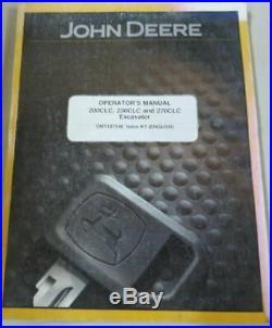 John Deere 230CLC 230C LC Excavator Owner Operator Maintenance Manual OMT187348